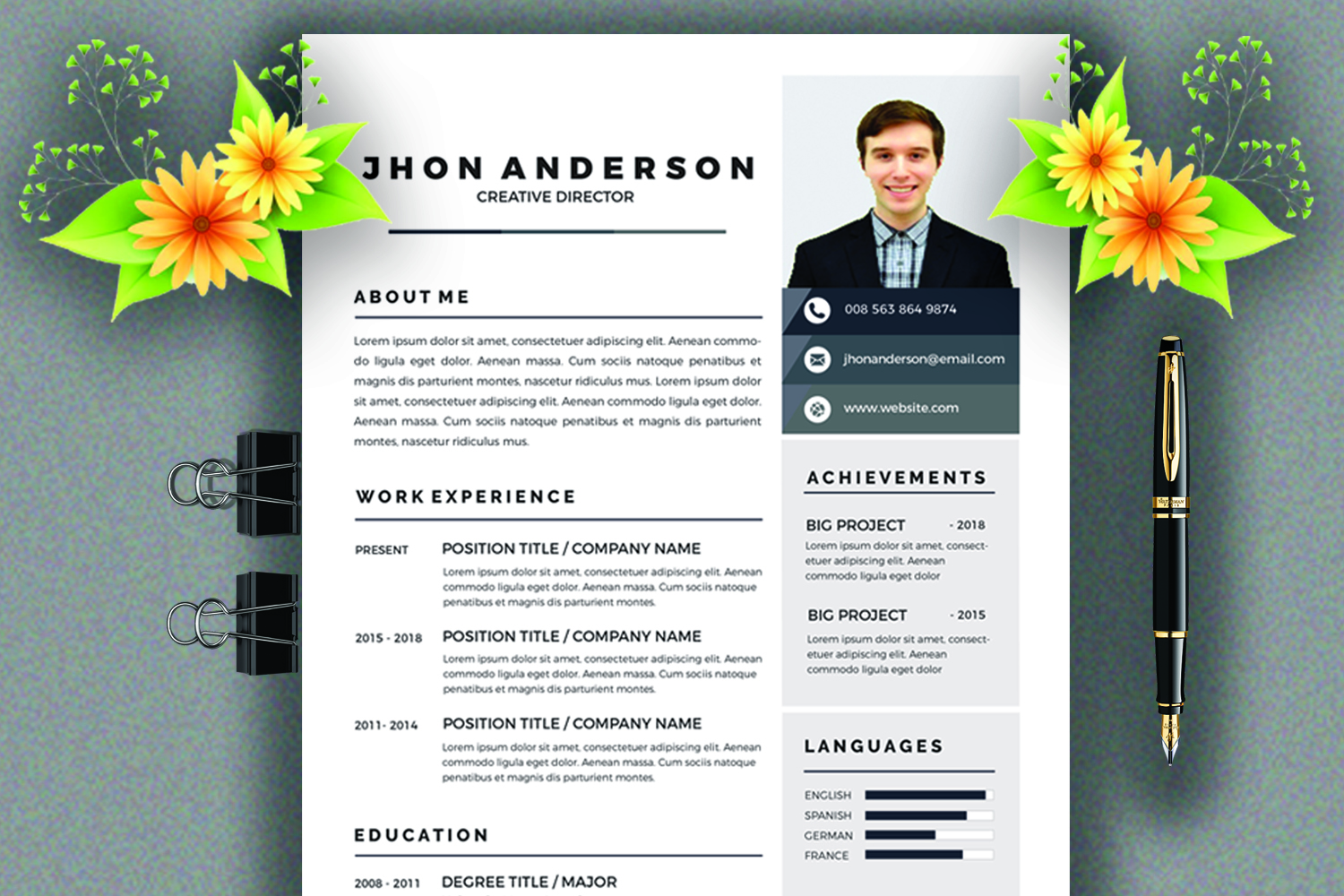 Resume /CV Template  example image 1
