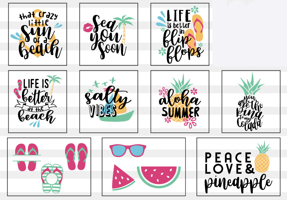 Summer Lovers SVG Cut File Bundle example image 8