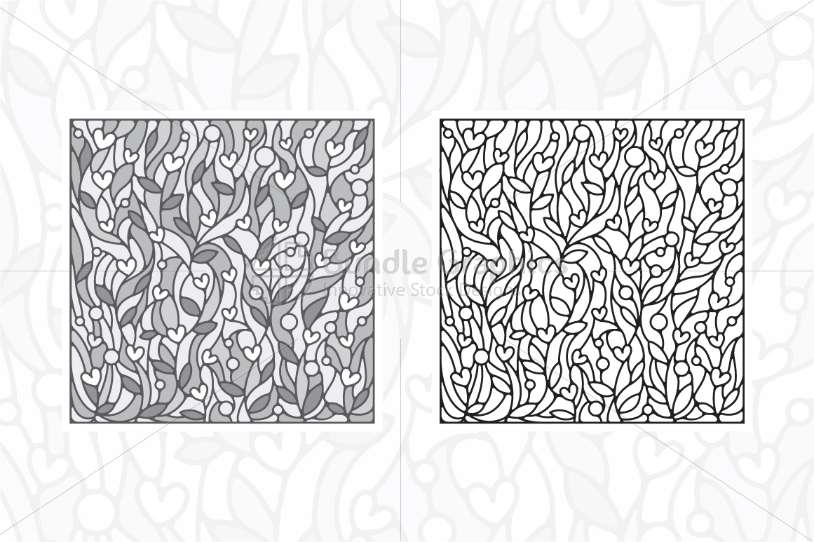 Nature and Heart Colorful Vector Background example image 3