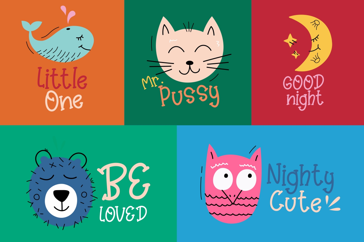 Kinder Games Cute & Fun Typeface example image 6