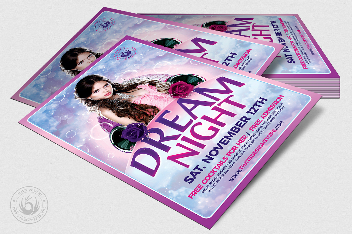 Dream Night Flyer Template example image 4