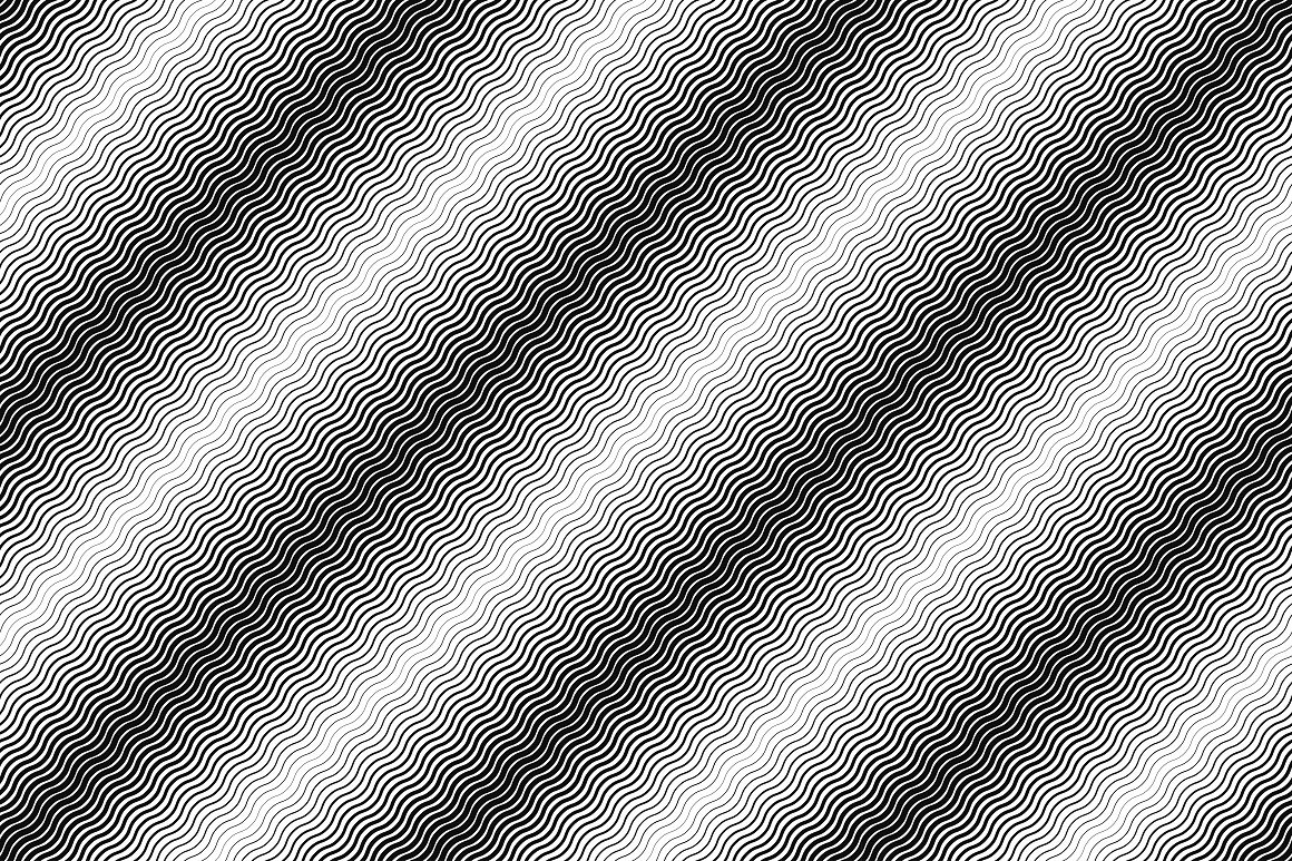 Striped halftone seamless patterns example image 9