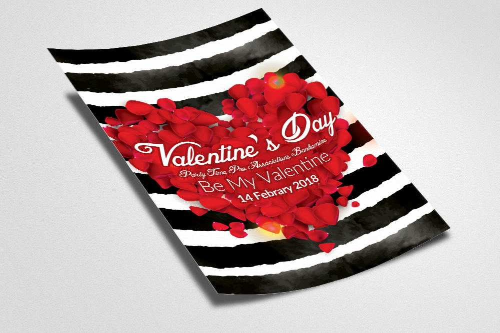 Valentine's Day Flyer Template example image 3
