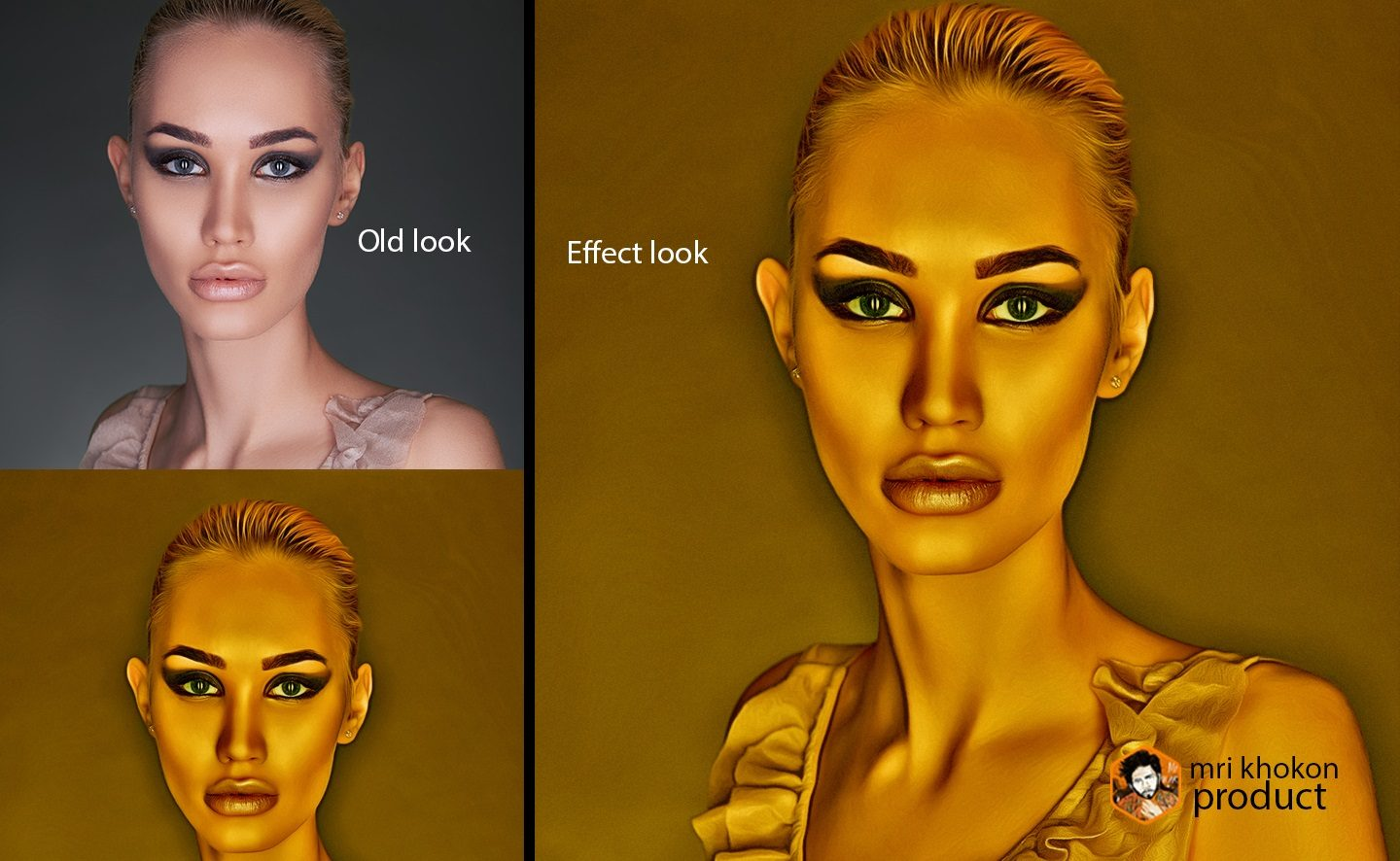 Gold Look Photoshop Effect example image 7