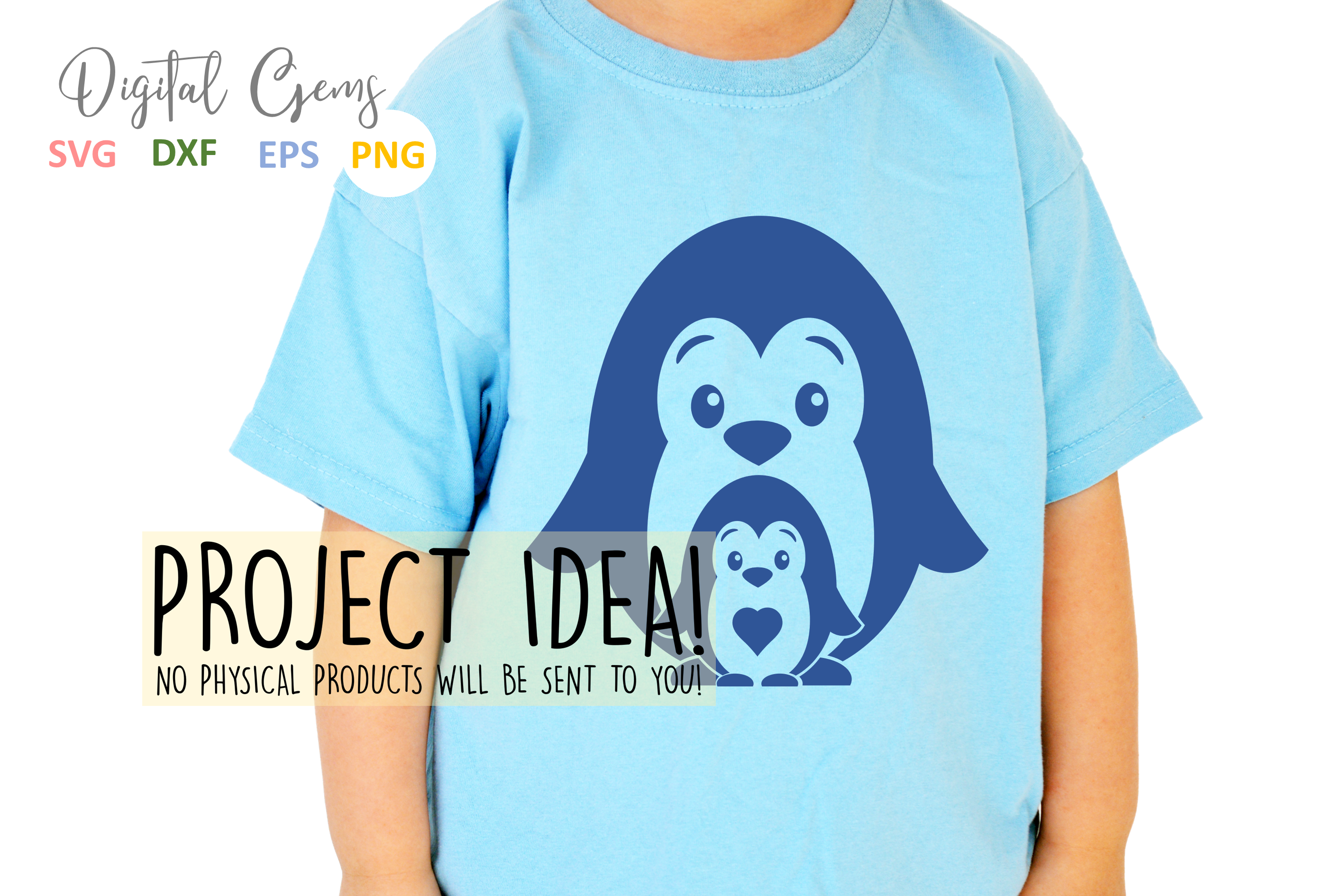 Penguin and baby design example image 5