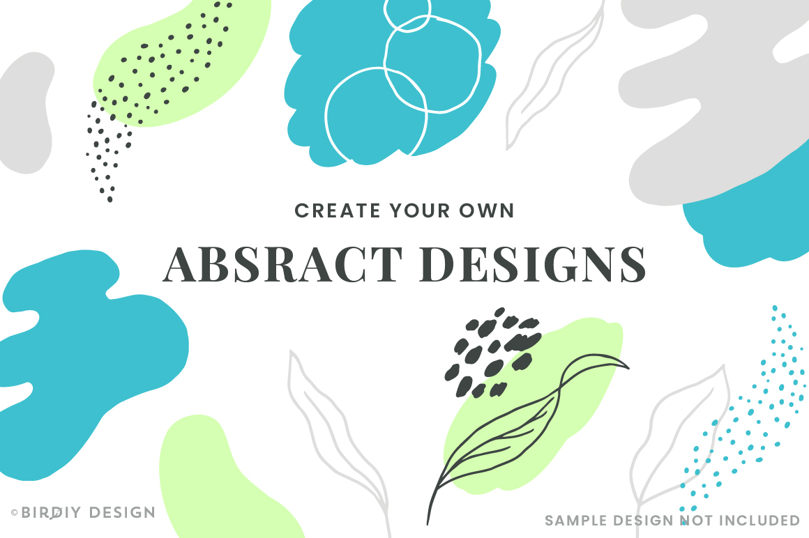 Doodle Abstract Floral Pattern Design Kit example image 7