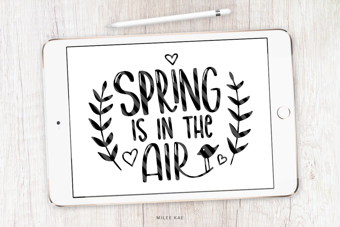 Spring Quote SVG, Cutting file, Decal example image 1