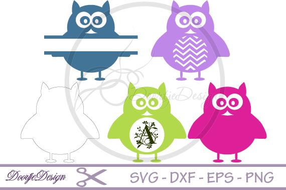 SVG Monogram Owl example image 1