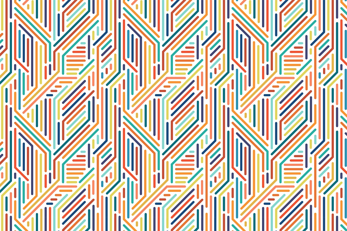 Colorful seamless striped patterns. example image 12