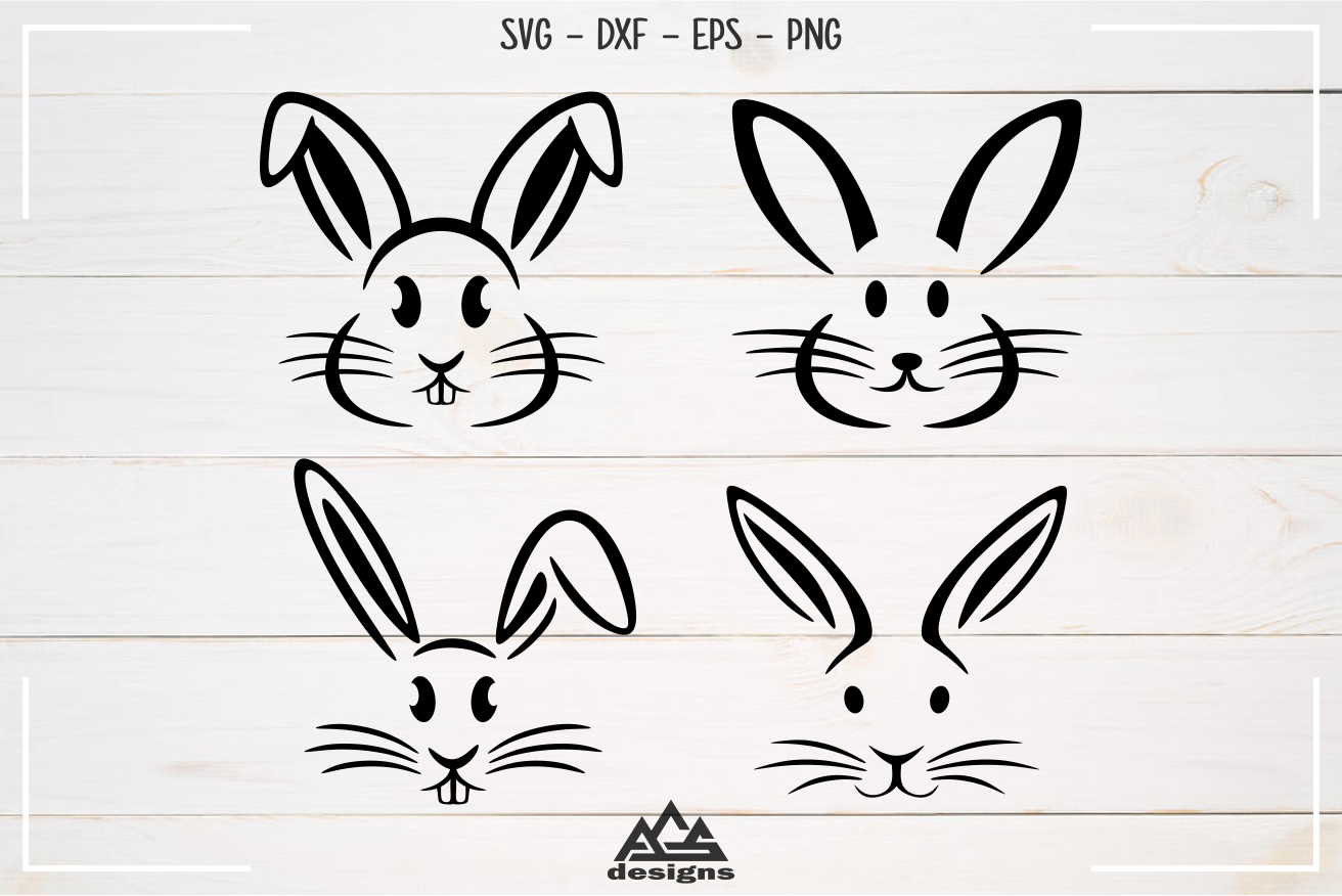 Rabbit Easter Bunny Svg Design example image 1