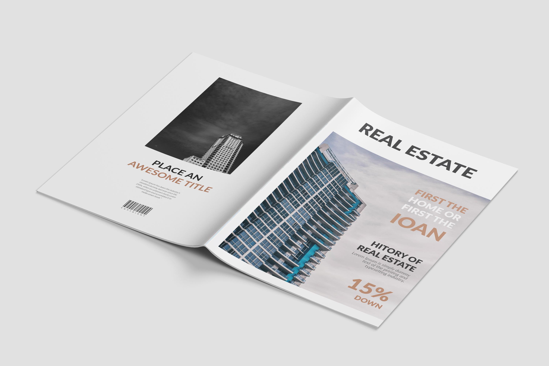 Real Estate Minimal Magazine Template example image 9