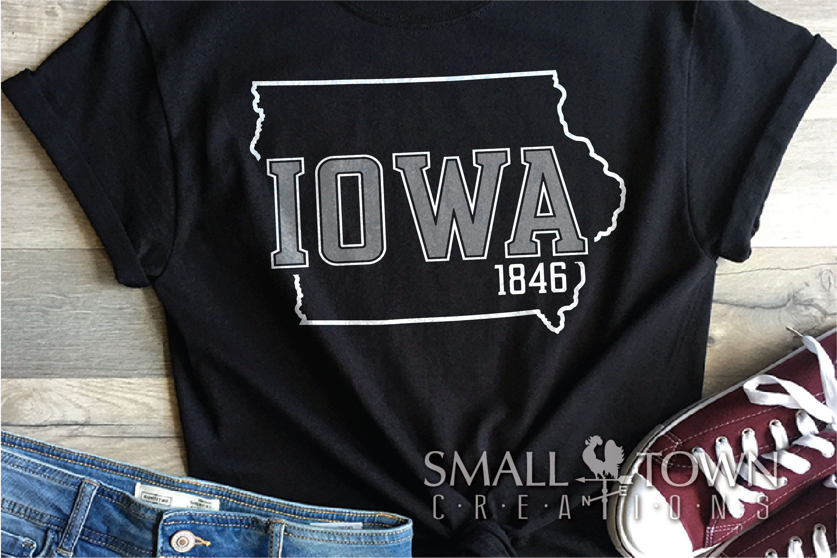 Iowa, State, Fields of Opportunity, PRINT, CUT & DESIGN example image 5