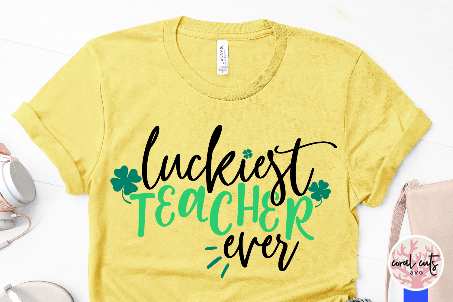 Luckiest teacher ever - St. Patrick's Day SVG EPS DXF PNG example image 3