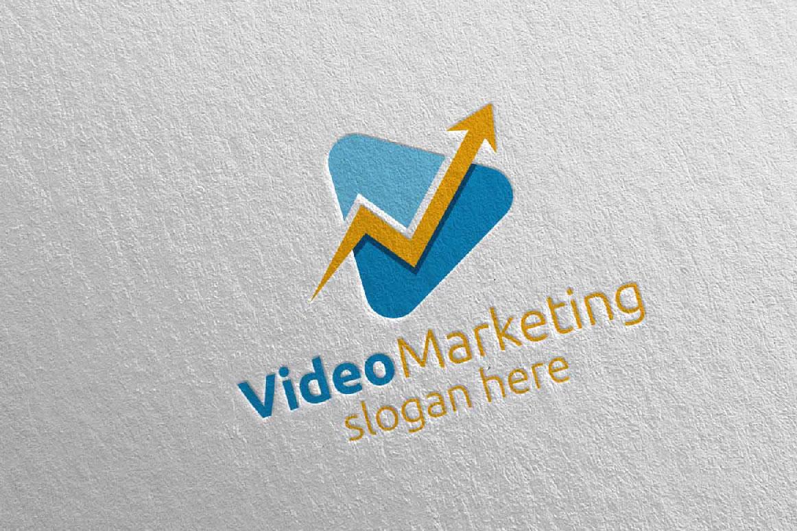 Video Marketing Financial Advisor Logo Design 20 example image 1