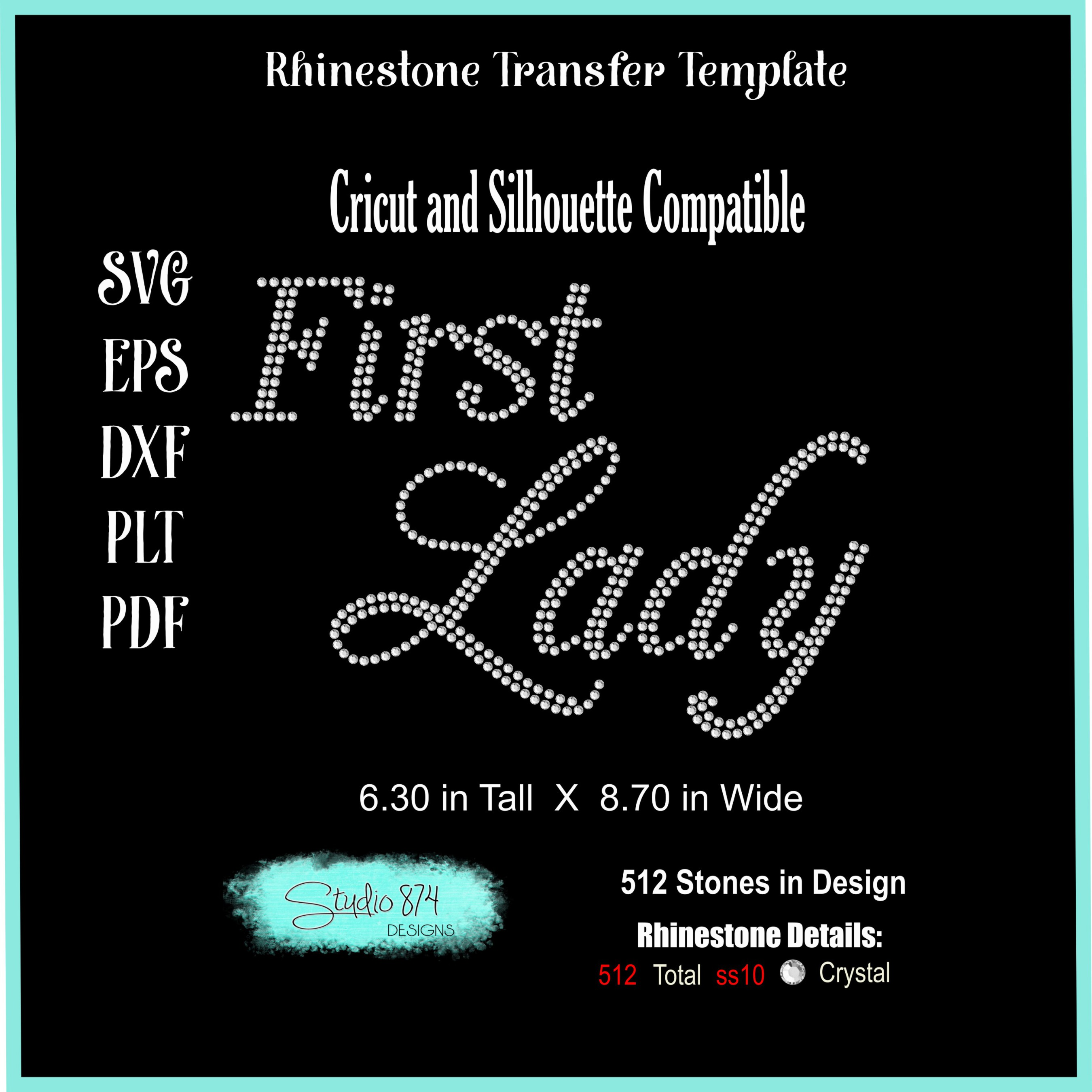 Faith Religious Rhinestone SVG Template - First Lady example image 2