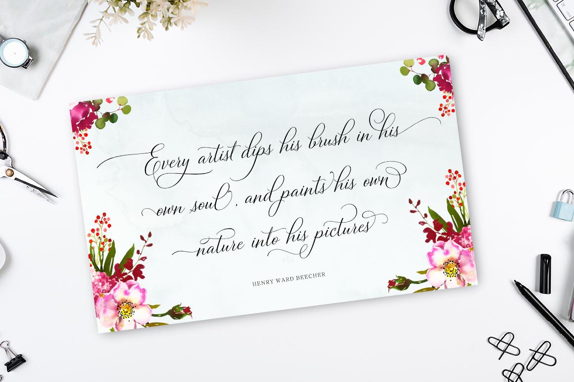 Bettrisia Script - Elegant Calligraphy Font example image 6