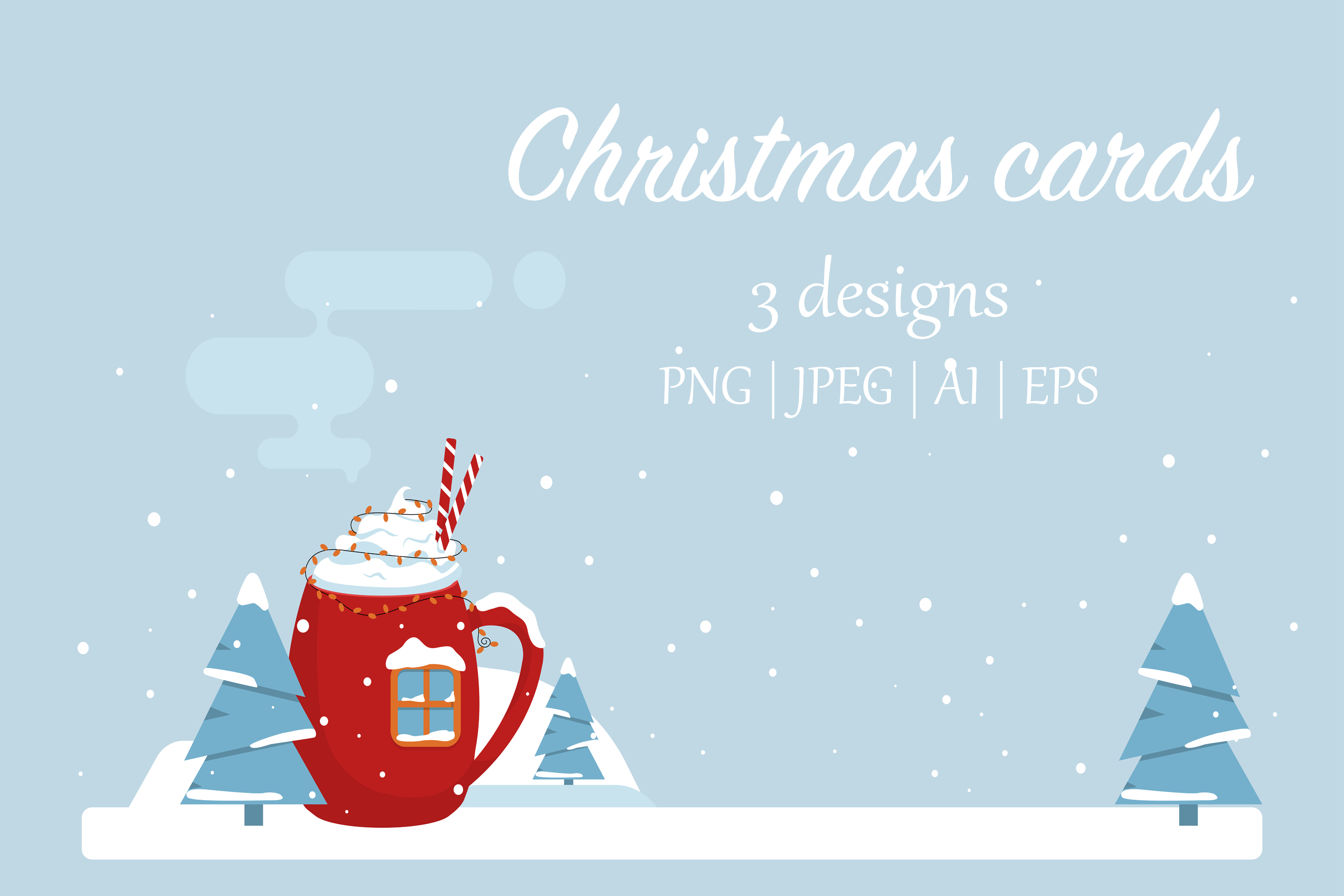 Christmas greetings cards example image 1
