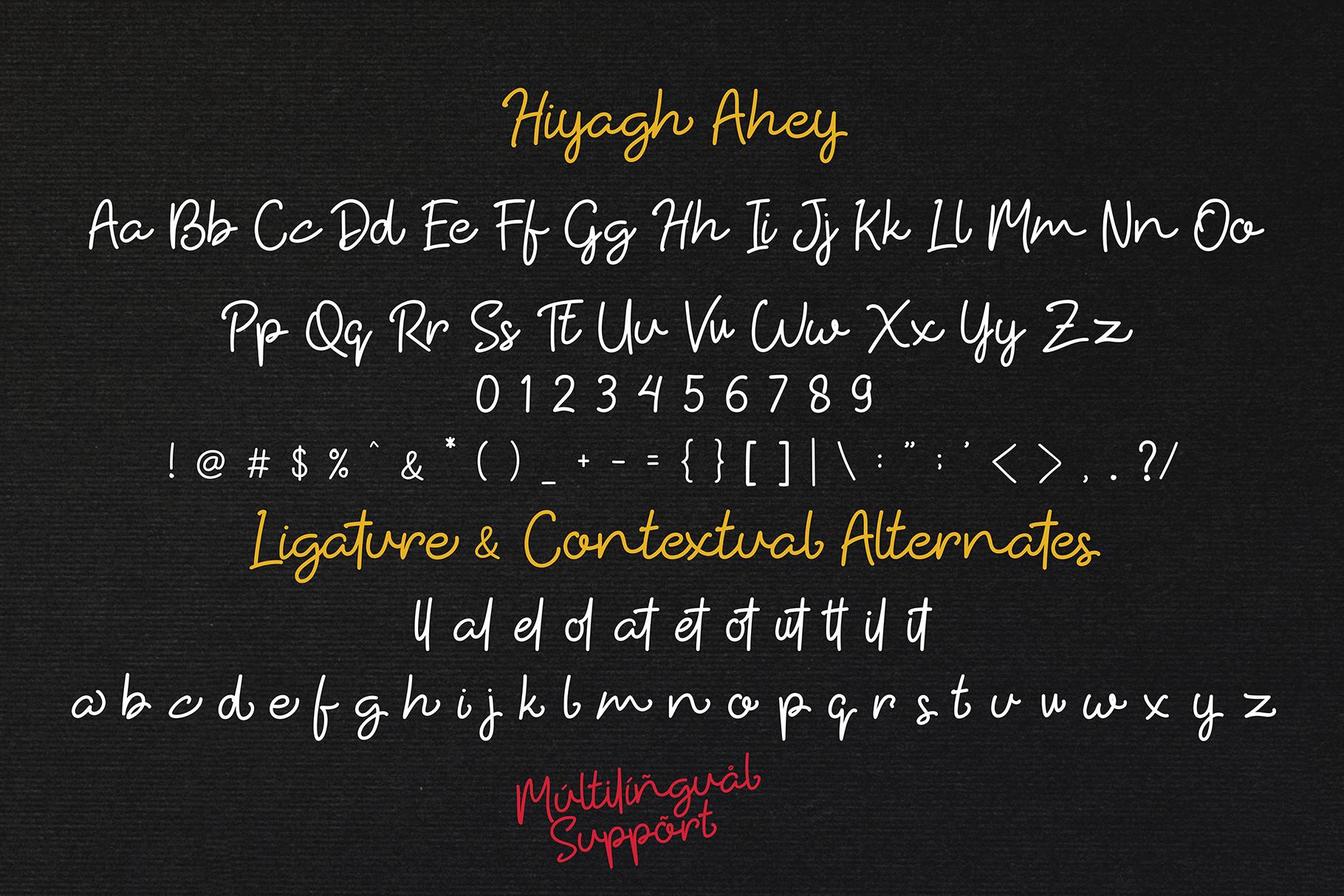 Hiyagh Ahey - Couple Fonts example image 7