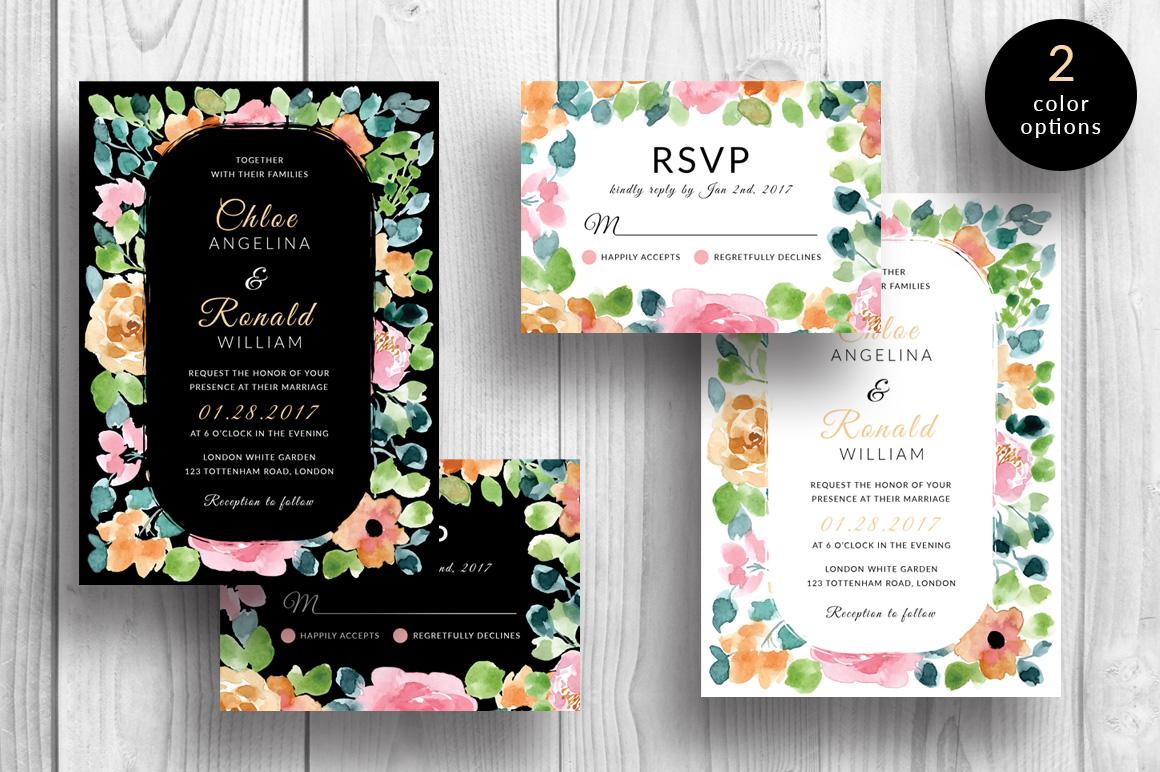 Gardenia - Wedding Invitation & RSVP example image 1