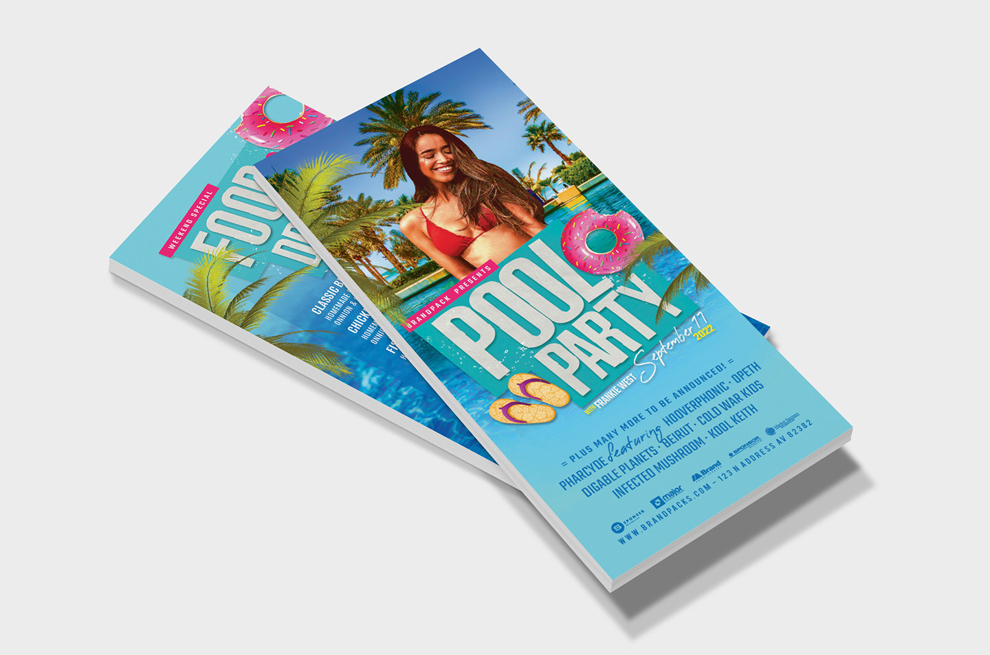 Pool Party Flyer Template example image 10