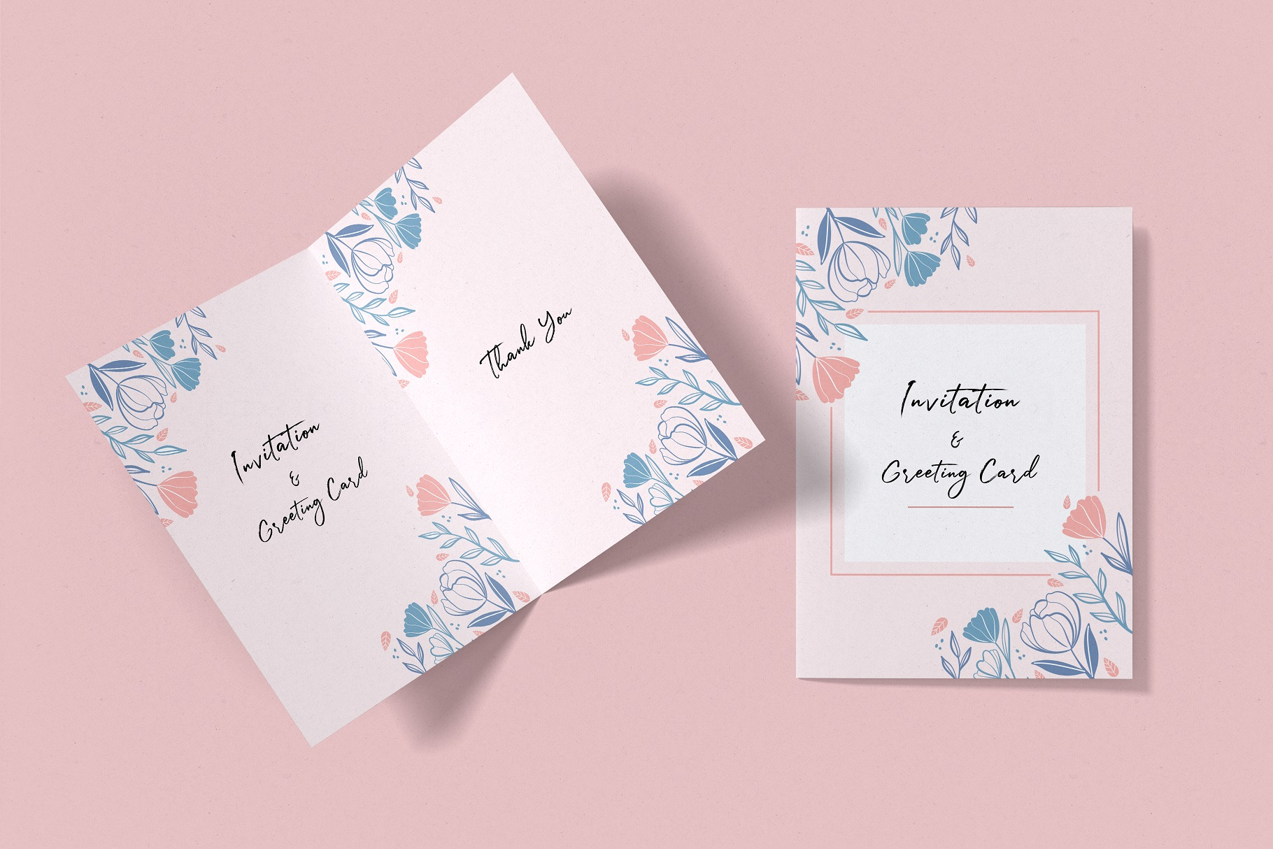 Invitation & Greeting Card Mockup example image 11