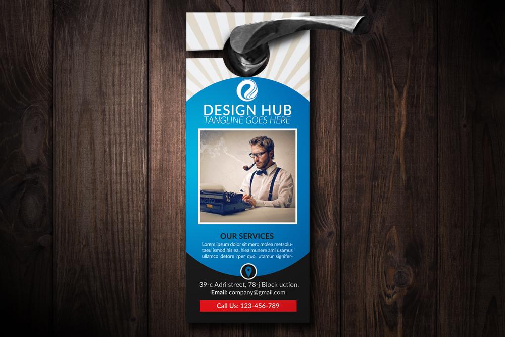 Business Editor Door Hangers example image 1