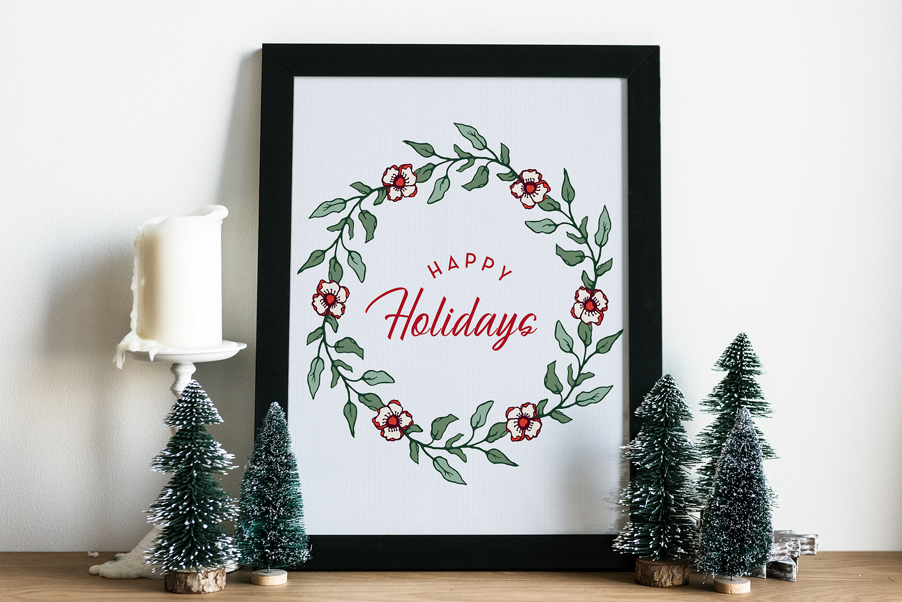 Winter Floral Patterns & Illustrations example image 14