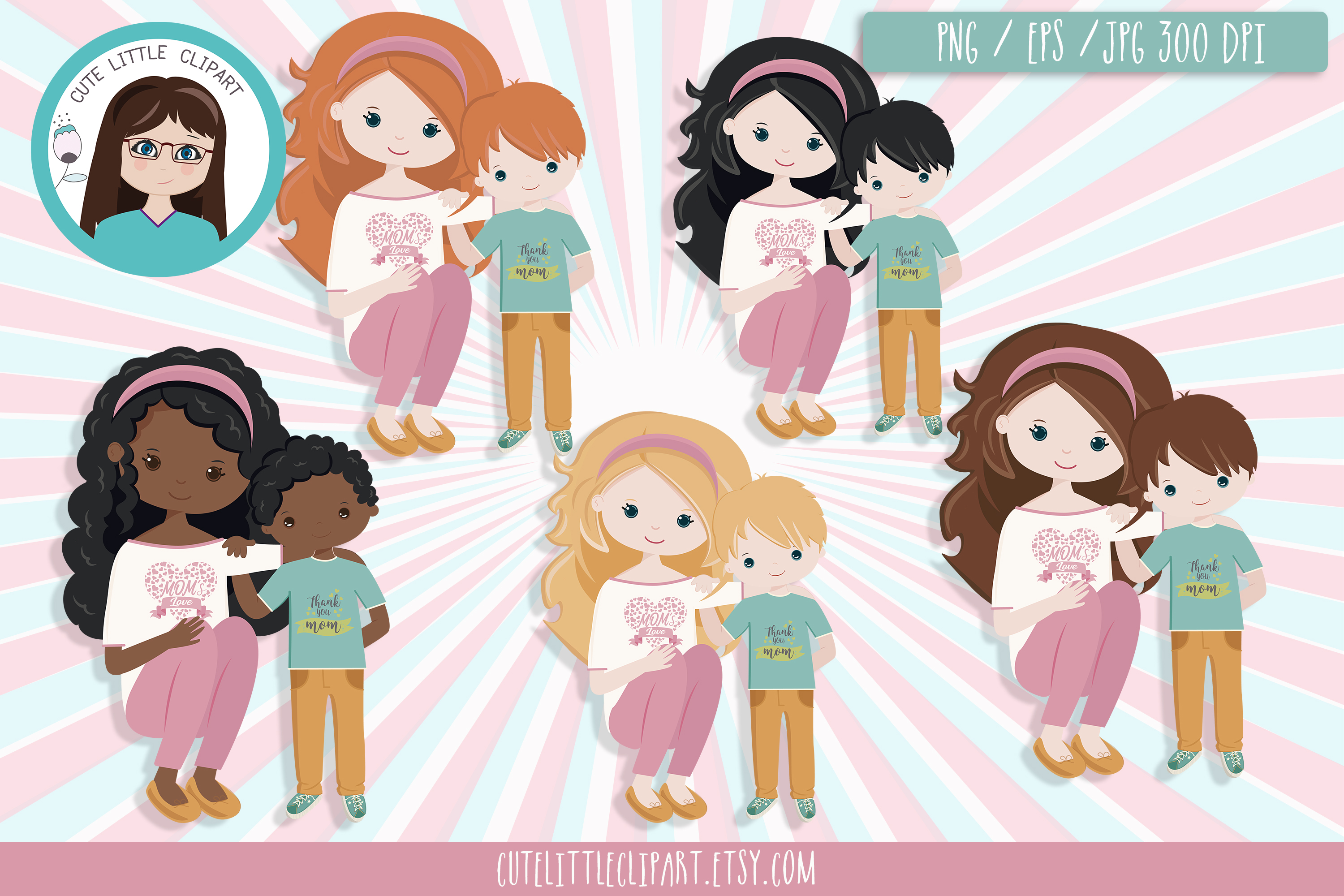 Mom day bundle clipart and svg example image 3