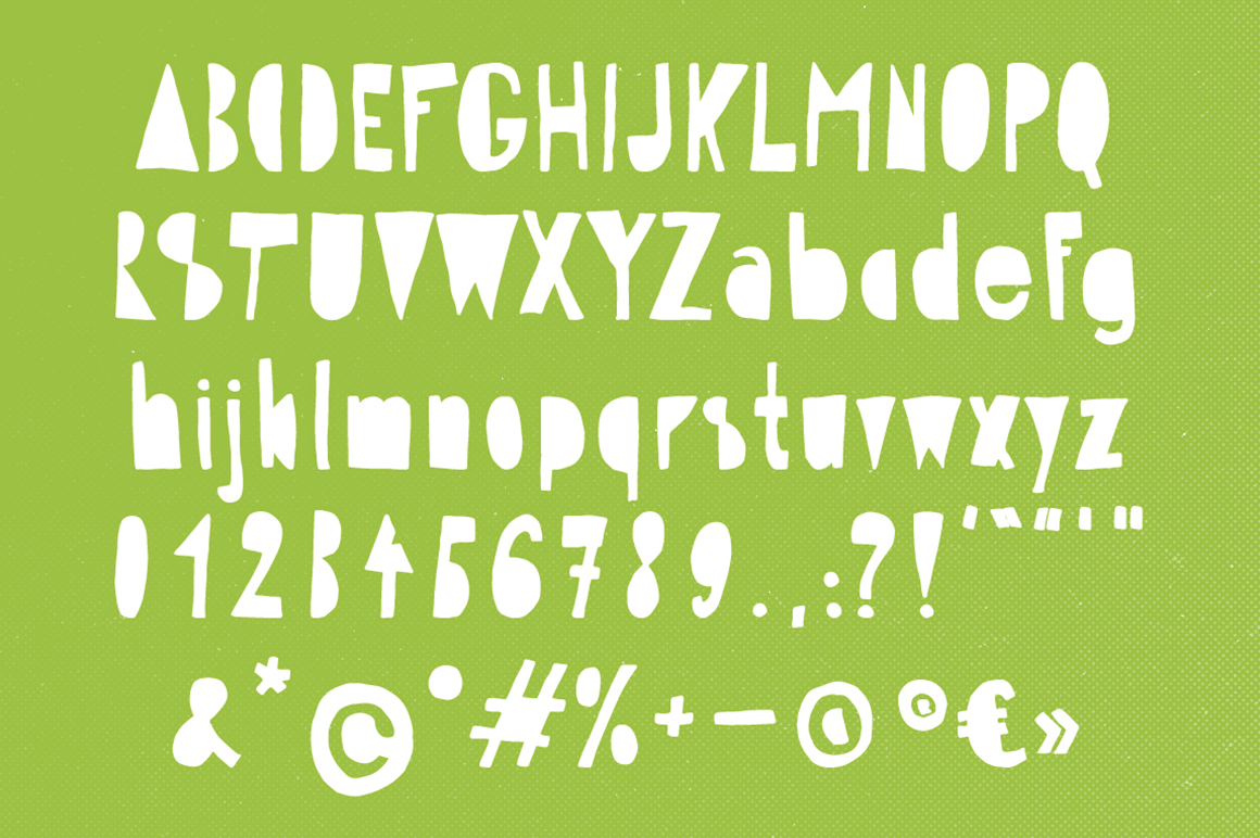 Hippo in the Woods - Organic Font example image 5