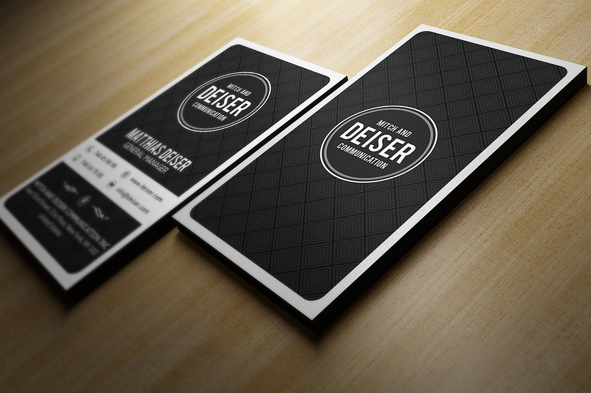 Black And White Business Card example image 1