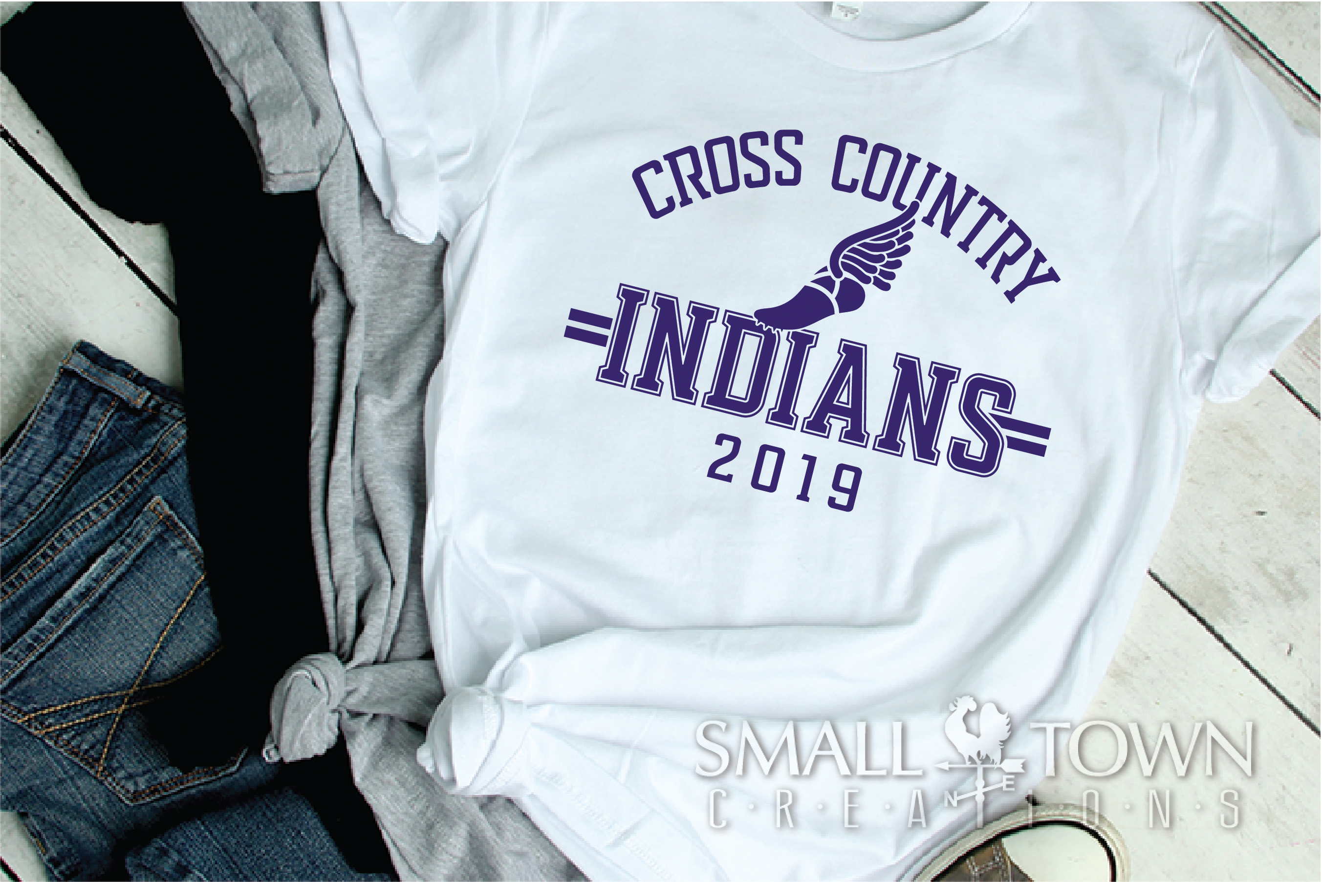 Indian Cross Country, Indians mascot, PRINT, CUT, DESIGN example image 2