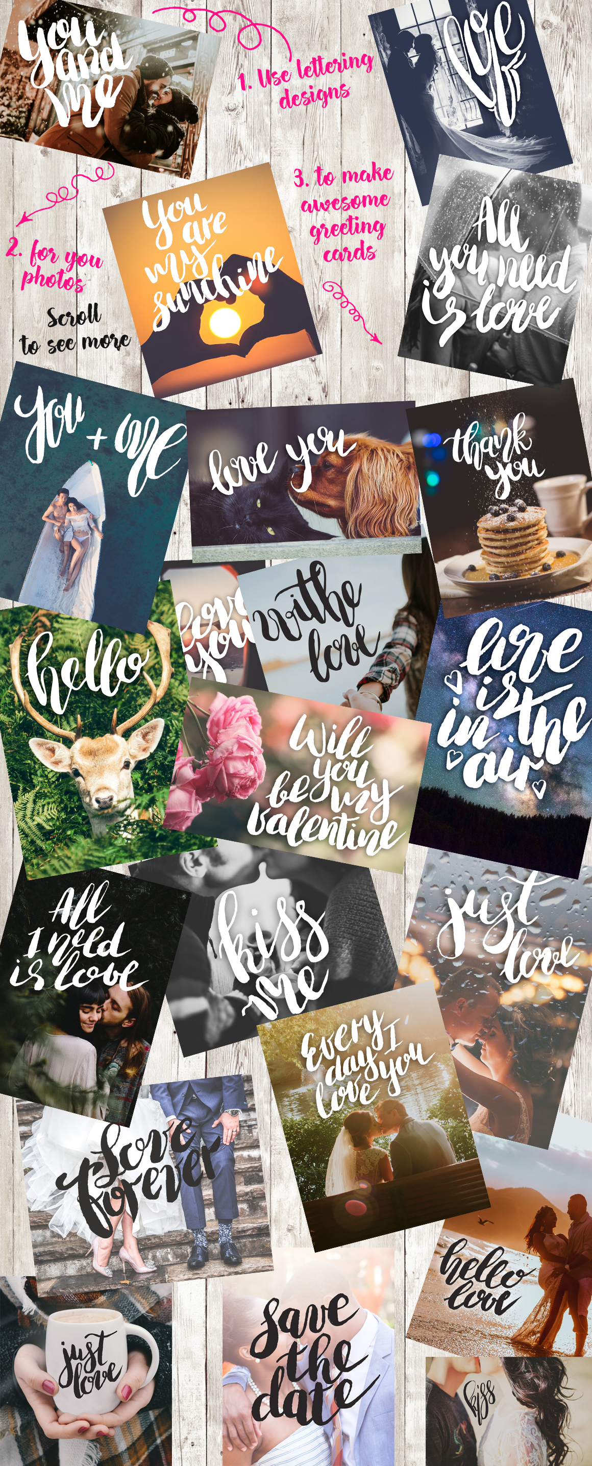 Love Lettering & Graphic overlays  example image 4