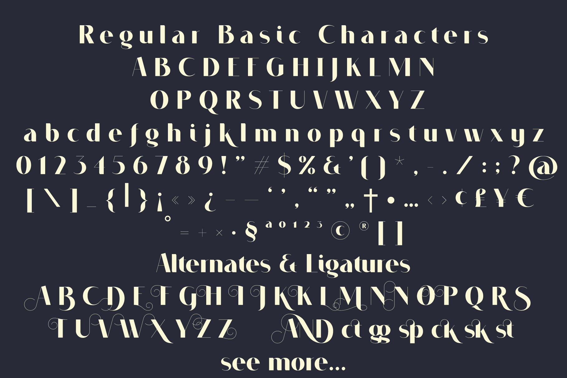 VOGUER Sans family example image 3