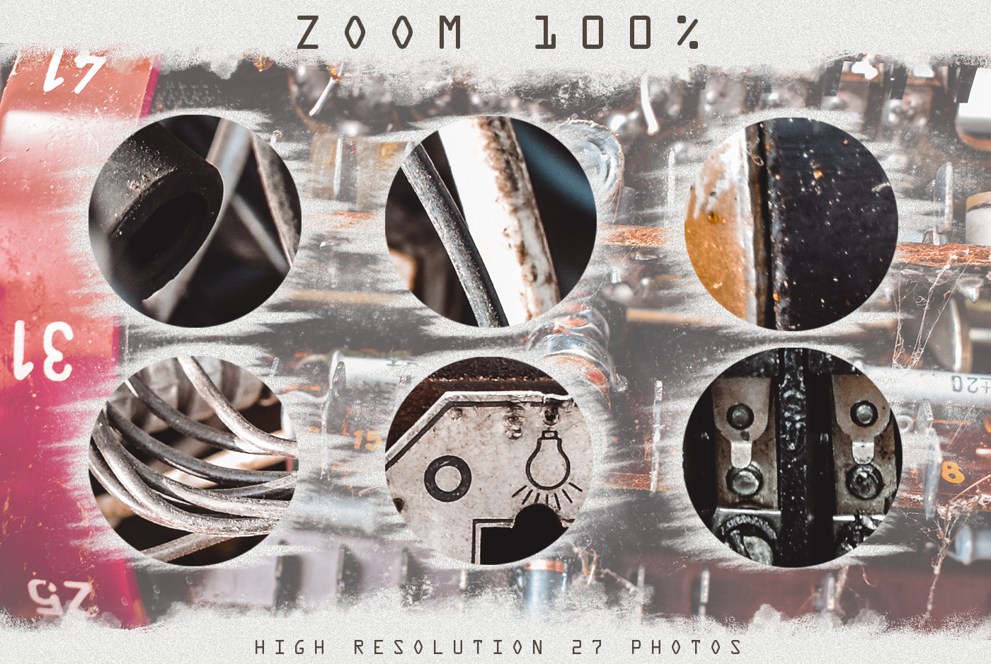 Grunge Steampunk Textures Overlays background pack digital example image 2