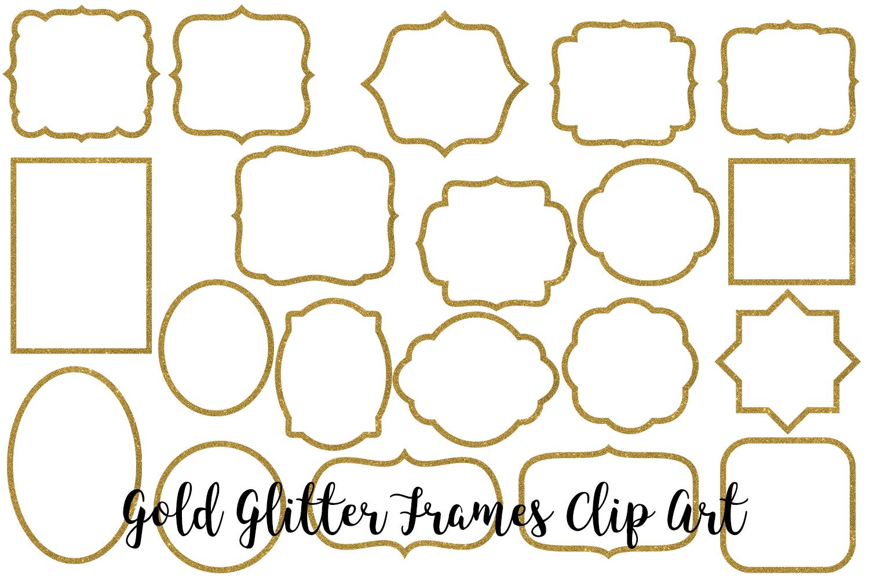 Gold Glitter Frames Clip Art example image 2