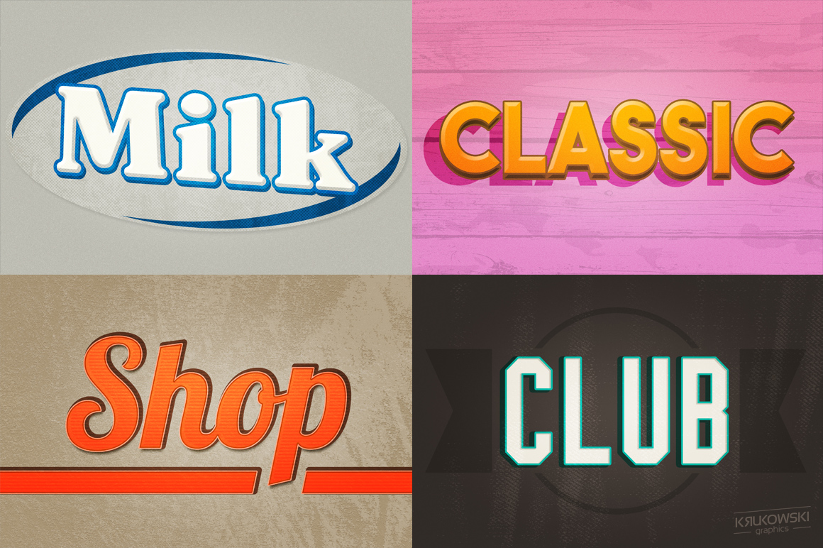 Vintage Old Text Effects Mockup example image 4