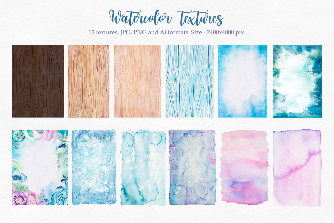Watercolor textures example image 2