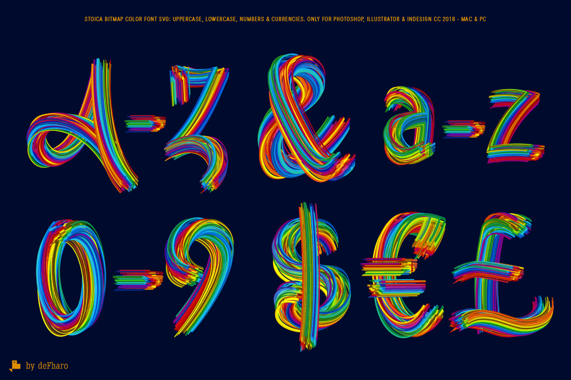 Stoica - Bitmat SVG Color Font example image 7