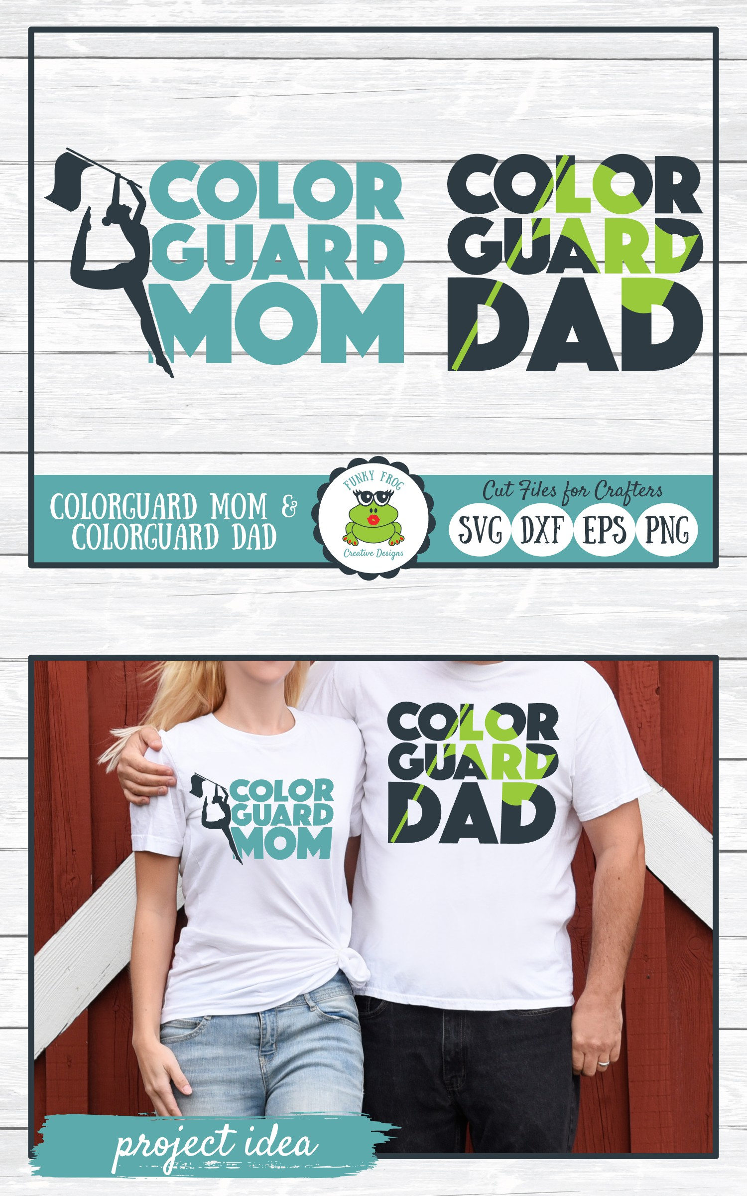 Color Guard Mom and Color Guard Dad SVG Cut Files example image 5
