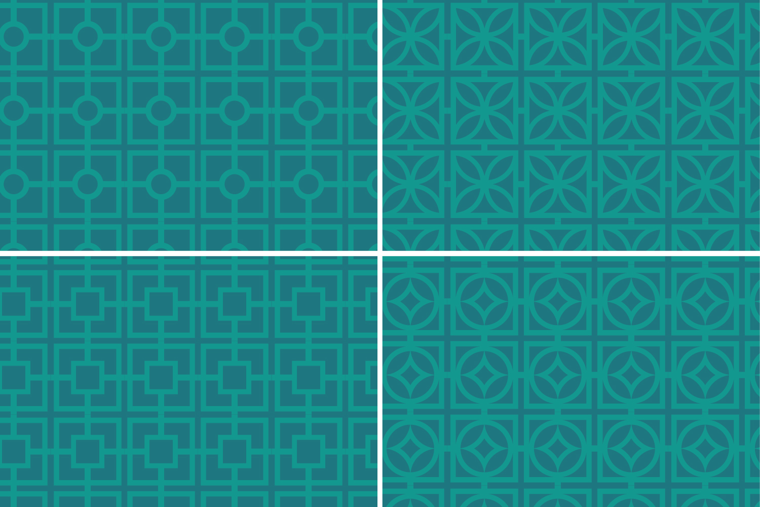 Teal Retro Breeze Block Patterns example image 5