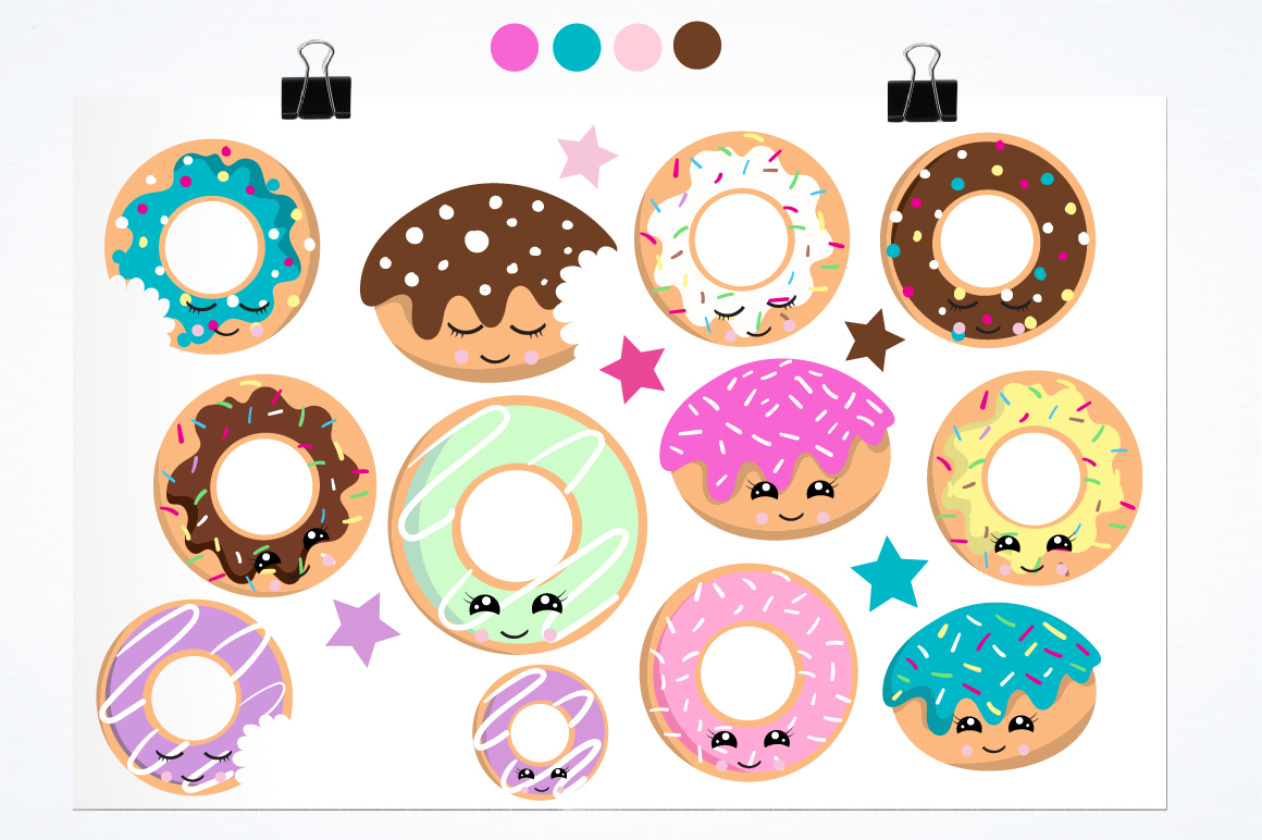 Cutie Donuts graphics and illustrations example image 2