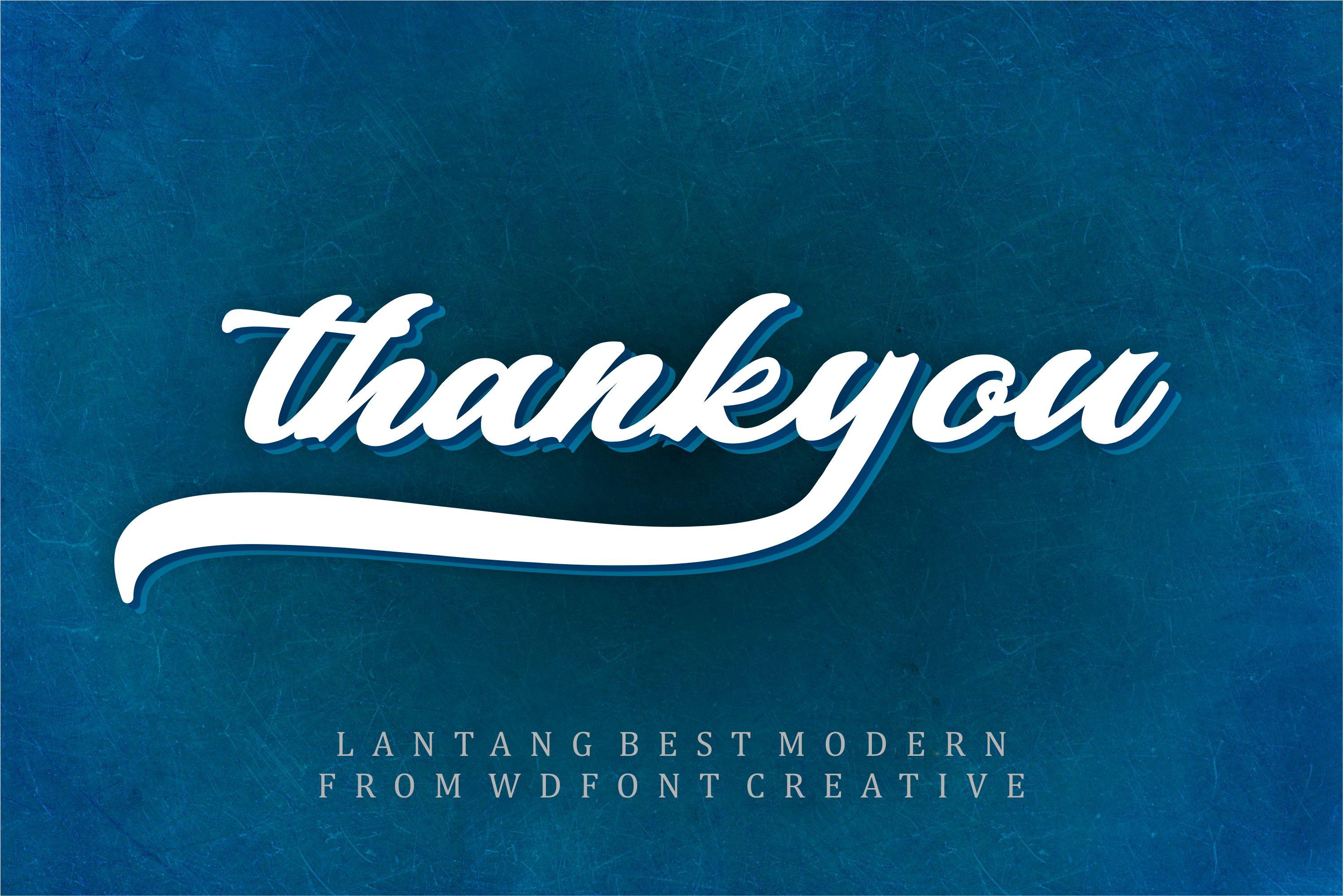 Lantang Best | Modern Stylish Font example image 5