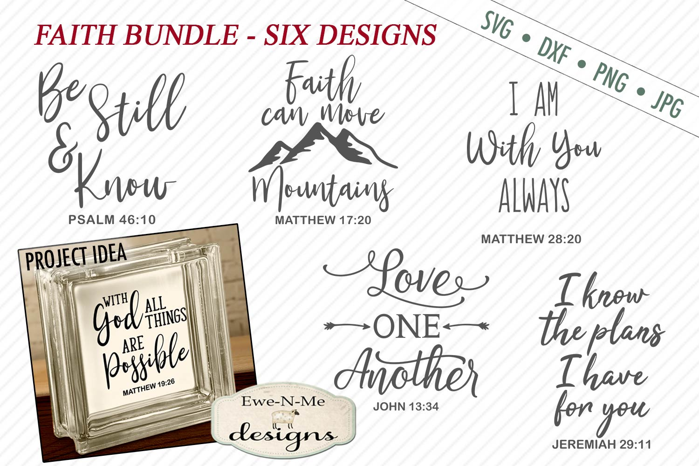 Faith SVG Bundle - Scripture SVG - Bible Verse - SVG DXF example image 1