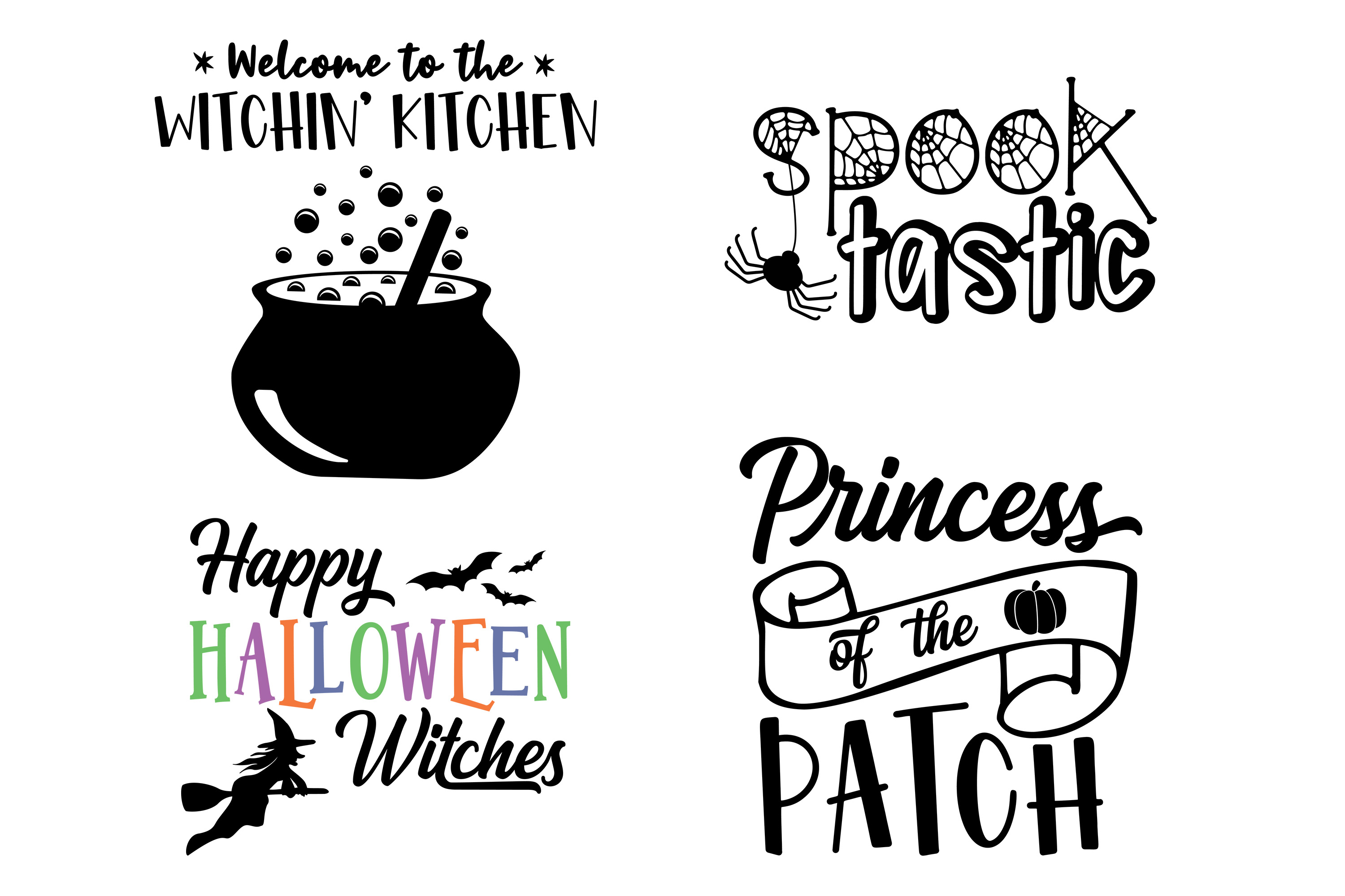 Halloween Bundle SVG DXF EPS PNG example image 3