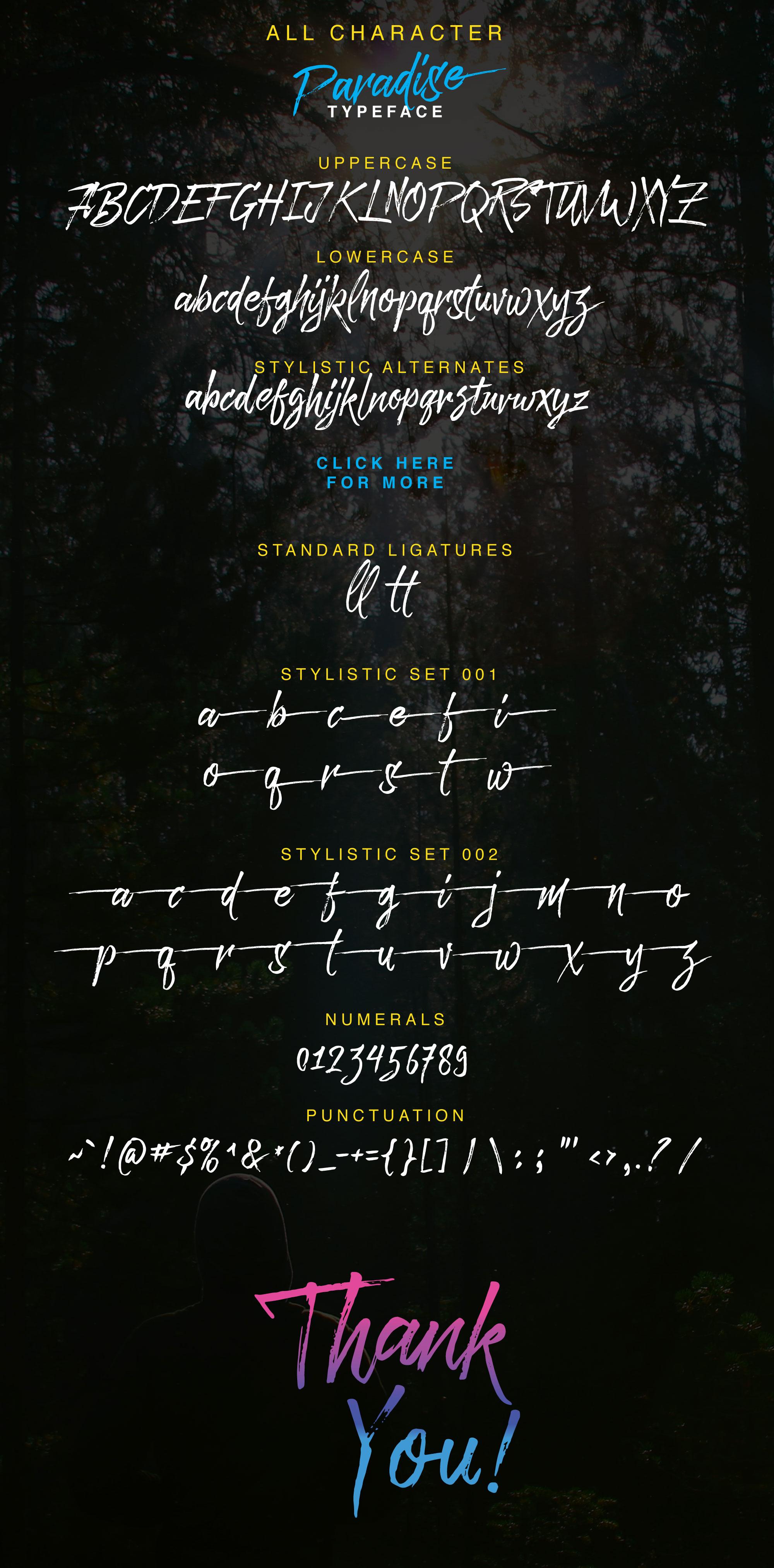 Paradise Typeface example image 3