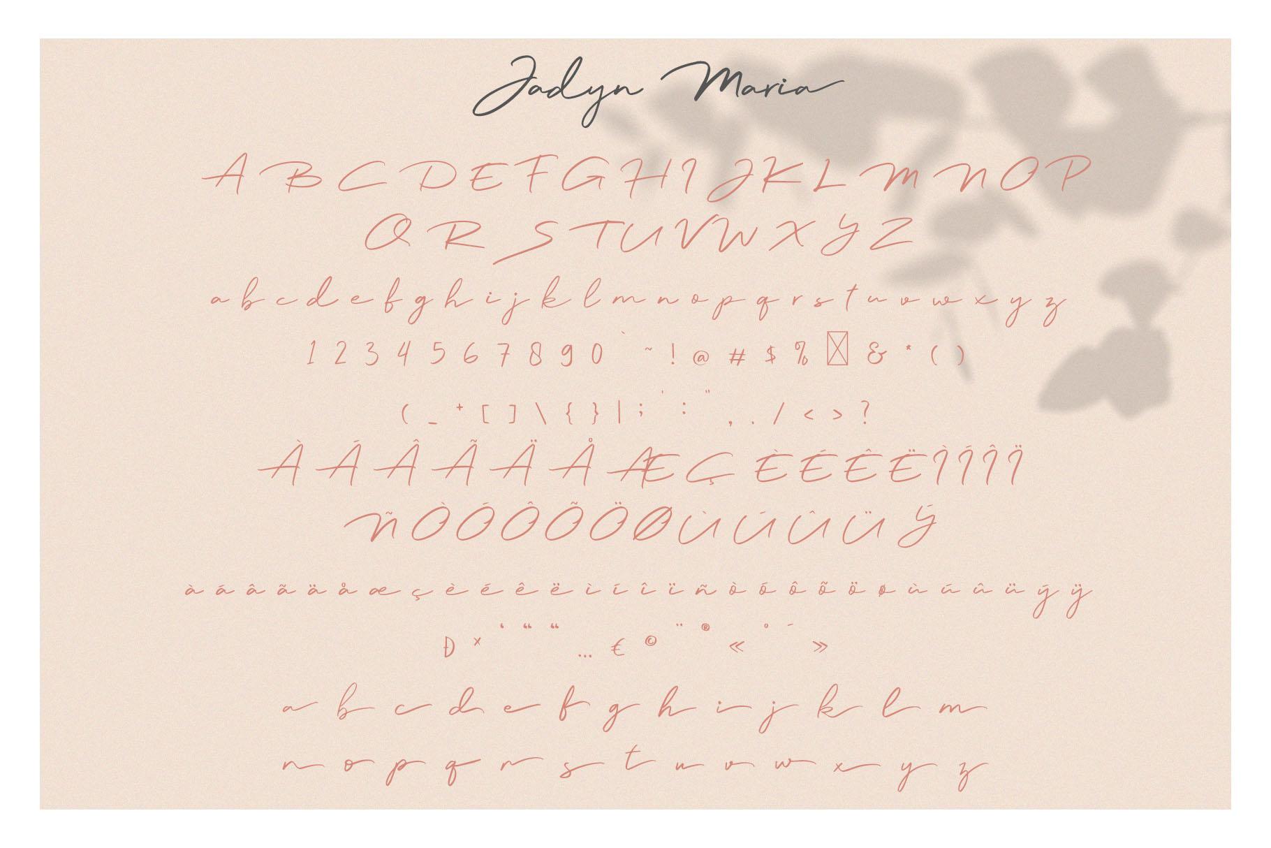 Jadyn Maria - Luxury Signature Font example image 8