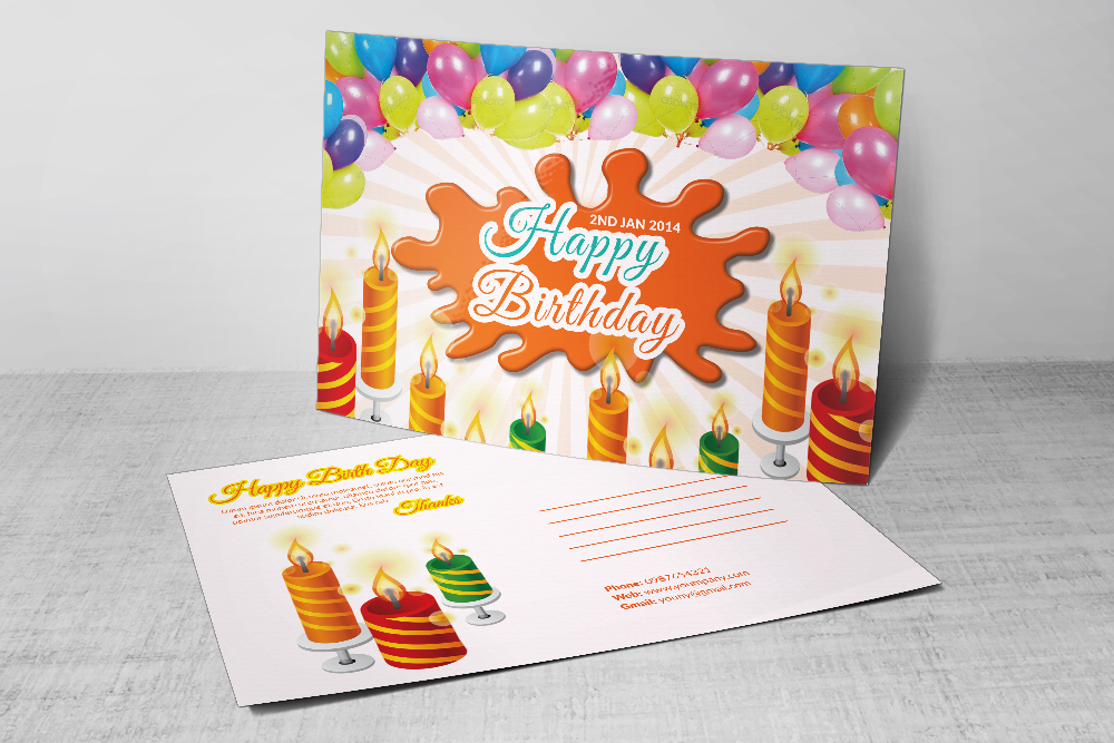 Kids Birthday Post Cards example image 2