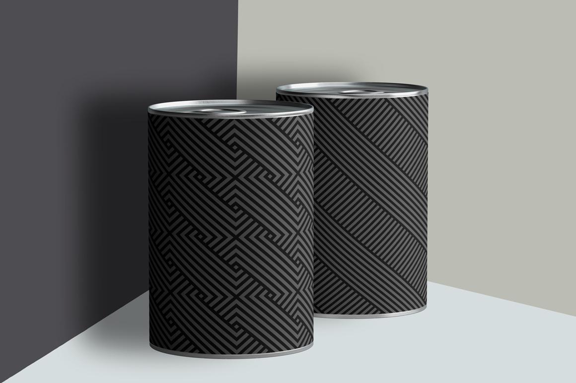 Dark striped geometric patterns example image 5