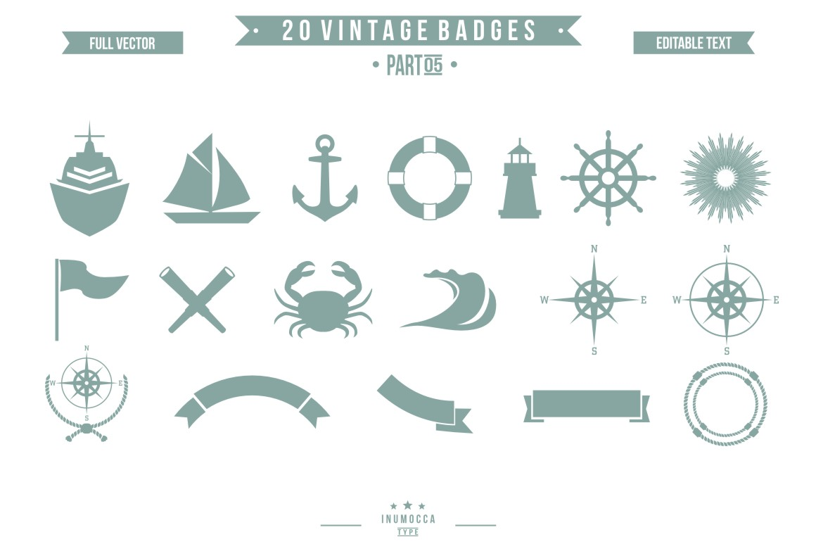 BIG BUNDLE Vintage Badges example image 20