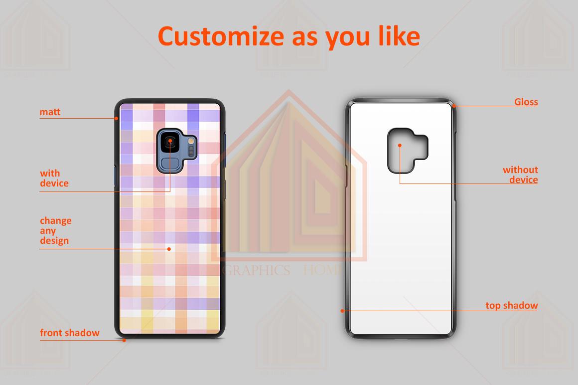 Samsung Galaxy S9 2dCase Design Mockup Back example image 2